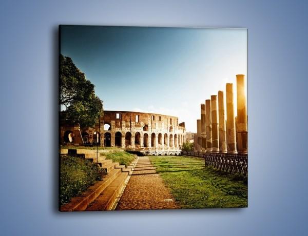 Obraz na płótnie – Koloseum w świetle słońca – jednoczęściowy kwadratowy AM269