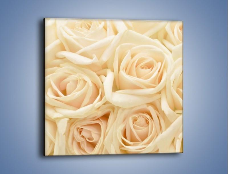 Obraz na płótnie – Bukiet herbacianych róż – jednoczęściowy kwadratowy K710