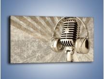 Obraz na płótnie – Głos w srebrnym mikrofonie – jednoczęściowy panoramiczny O026