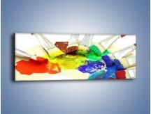 Obraz na płótnie – Kolory pędzlem malowane – jednoczęściowy panoramiczny O046