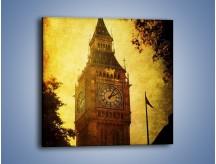 Obraz na płótnie – Big Ben w stylu vintage – jednoczęściowy kwadratowy AM270