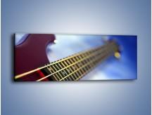 Obraz na płótnie – Gitara z bliska – jednoczęściowy panoramiczny O088