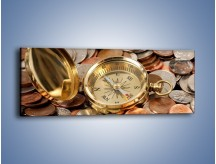 Obraz na płótnie – Kompas zatopiony w monetach – jednoczęściowy panoramiczny O089