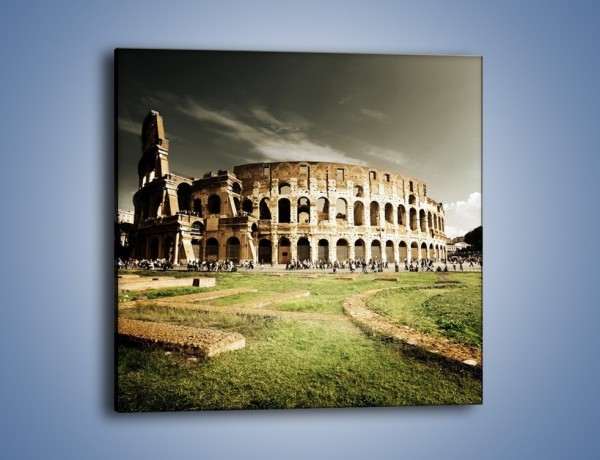 Obraz na płótnie – Koloseum przed burzą – jednoczęściowy kwadratowy AM271