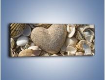 Obraz na płótnie – Miłość do muszli i morza – jednoczęściowy panoramiczny O132