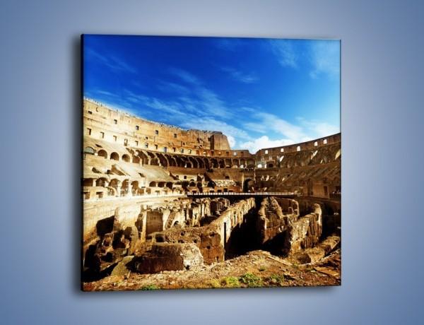 Obraz na płótnie – Wnętrze koloseum w świetle dnia – jednoczęściowy kwadratowy AM272