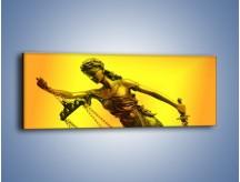 Obraz na płótnie – Figurka ważna w świecie prawa – jednoczęściowy panoramiczny O164