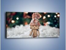 Obraz na płótnie – Mały ludek zimową porą – jednoczęściowy panoramiczny O166