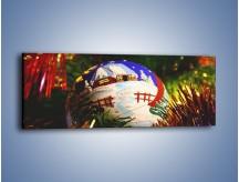 Obraz na płótnie – Bombka ręcznie malowana – jednoczęściowy panoramiczny O168