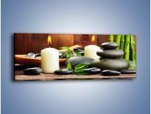 Obraz na płótnie – Masaż przy świecach – jednoczęściowy panoramiczny O176