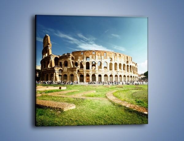 Obraz na płótnie – Koloseum w piękny dzień – jednoczęściowy kwadratowy AM273