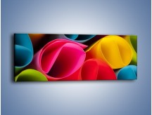 Obraz na płótnie – Kolorowe rulony – jednoczęściowy panoramiczny O217