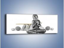 Obraz na płótnie – Budda wśród szarości – jednoczęściowy panoramiczny O220