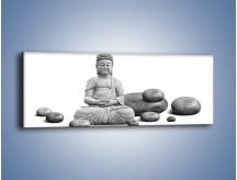 Obraz na płótnie – Budda wśród kamieni – jednoczęściowy panoramiczny O229
