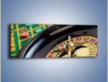 Obraz na płótnie – Czas drogocenny w kasynie – jednoczęściowy panoramiczny O238