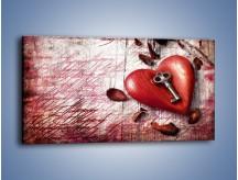 Obraz na płótnie – Klucz do serca – jednoczęściowy panoramiczny O246