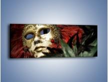 Obraz na płótnie – Maska pełna tajemnicy – jednoczęściowy panoramiczny O252