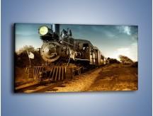 Obraz na płótnie – Stara amerykańska lokomotywa – jednoczęściowy panoramiczny TM001