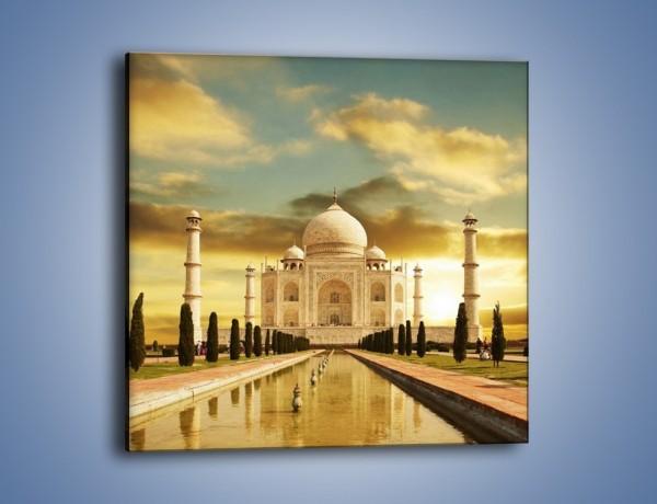 Obraz na płótnie – Tadź Mahal o zachodzie słońca – jednoczęściowy kwadratowy AM285