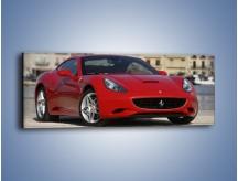 Obraz na płótnie – Czerwone Ferrari California – jednoczęściowy panoramiczny TM057