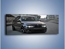Obraz na płótnie – Czarne BMW E39 M5 – jednoczęściowy panoramiczny TM072