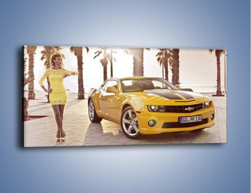 Obraz na płótnie – Chevrolet Camaro Coupe Europe – jednoczęściowy panoramiczny TM083