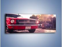 Obraz na płótnie – Czerwony Ford Mustang – jednoczęściowy panoramiczny TM087