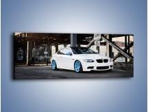 Obraz na płótnie – BMW E92 M3 Coupe pod starym mostem – jednoczęściowy panoramiczny TM088