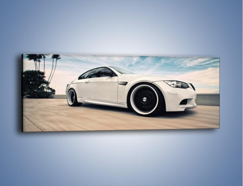 Obraz na płótnie – BMW M3 Strasse Forged Wheels – jednoczęściowy panoramiczny TM094
