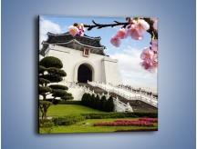 Obraz na płótnie – Azjatycka architektura – jednoczęściowy kwadratowy AM299