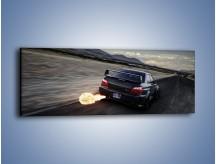 Obraz na płótnie – Ogień z wydechu Subaru Impreza WRX STi – jednoczęściowy panoramiczny TM128