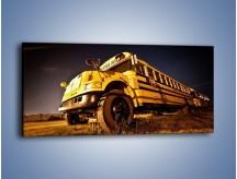 Obraz na płótnie – Amerykański School Bus – jednoczęściowy panoramiczny TM146
