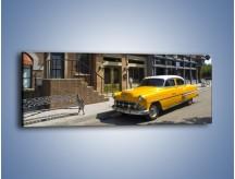 Obraz na płótnie – Amerykańska taksówka z lat 51 – jednoczęściowy panoramiczny TM164