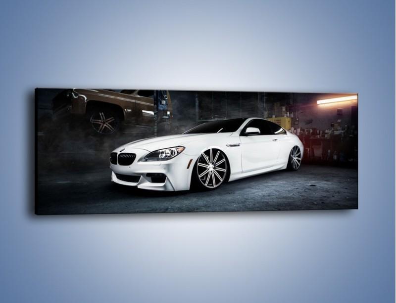 Obraz na płótnie – BMW M6 F13 Vossen Wheels – jednoczęściowy panoramiczny TM169