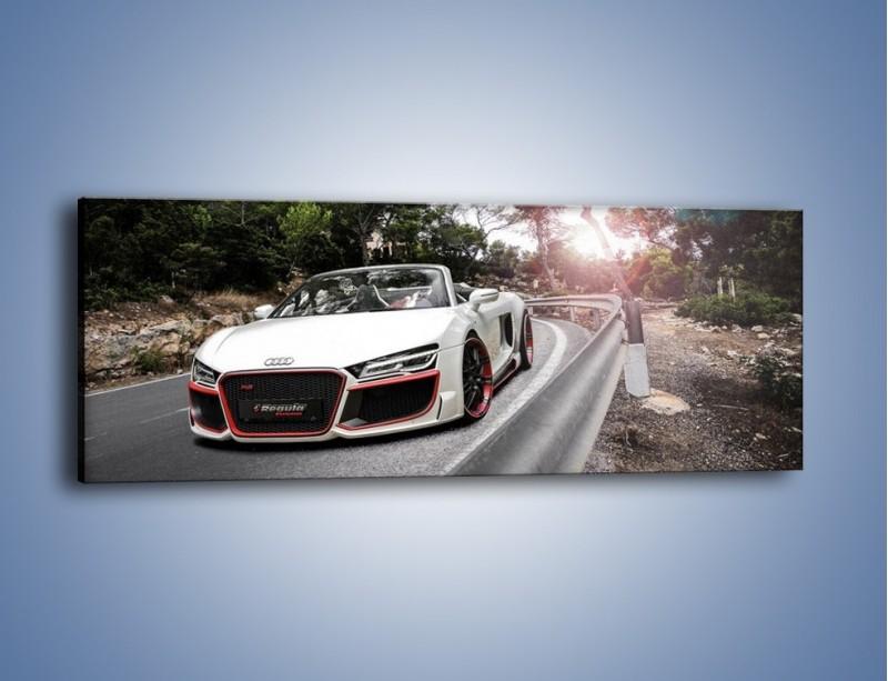 Obraz na płótnie – Audi R8 V10 Spyder – jednoczęściowy panoramiczny TM209