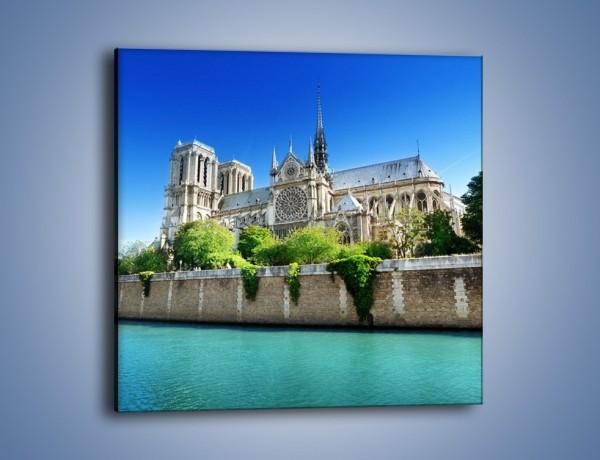 Obraz na płótnie – Katedra Notre-Dame – jednoczęściowy kwadratowy AM305