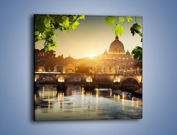 Obraz na płótnie – Bazylika w Rzymie o zachodzie słońca – jednoczęściowy kwadratowy AM306