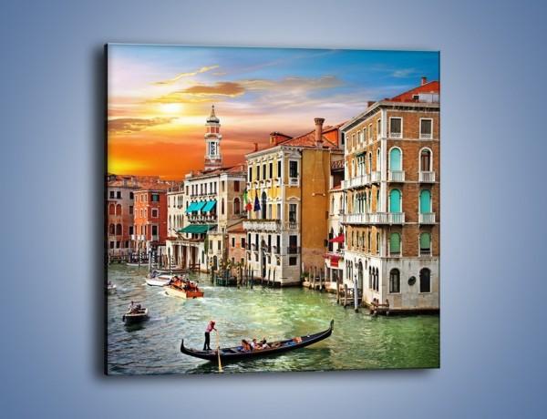Obraz na płótnie – Kolory Wenecji o zachodzie słońca – jednoczęściowy kwadratowy AM307