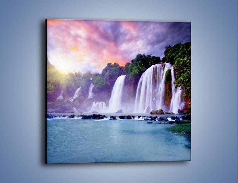 Obraz na płótnie – Wodospady jak z bajki – jednoczęściowy kwadratowy KN026