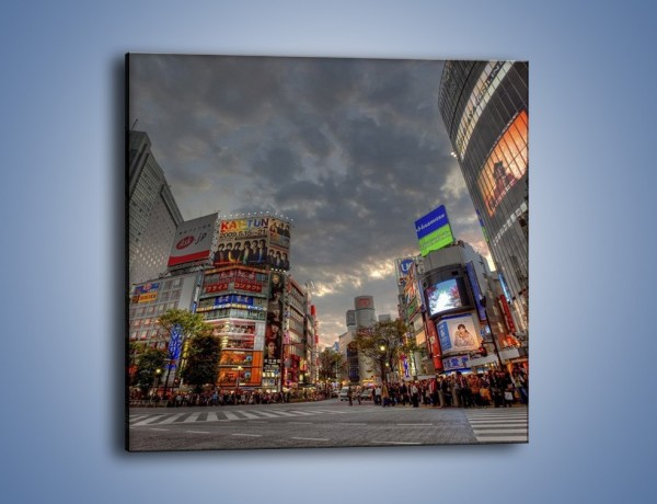 Obraz na płótnie – Uliczny tłok w Tokyo – jednoczęściowy kwadratowy AM312