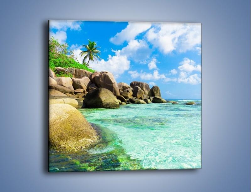 Obraz na płótnie – Lazurowa woda w tropikach – jednoczęściowy kwadratowy KN035