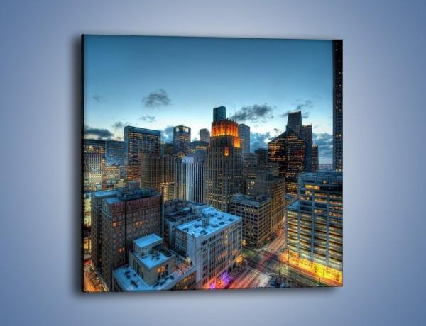 Obraz na płótnie – Drapacze chmur wczesnym wieczorem – jednoczęściowy kwadratowy AM315