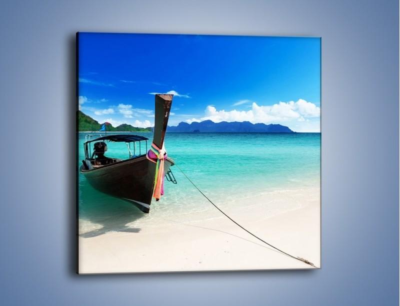 Obraz na płótnie – Wodny transport w tajlandii – jednoczęściowy kwadratowy KN083