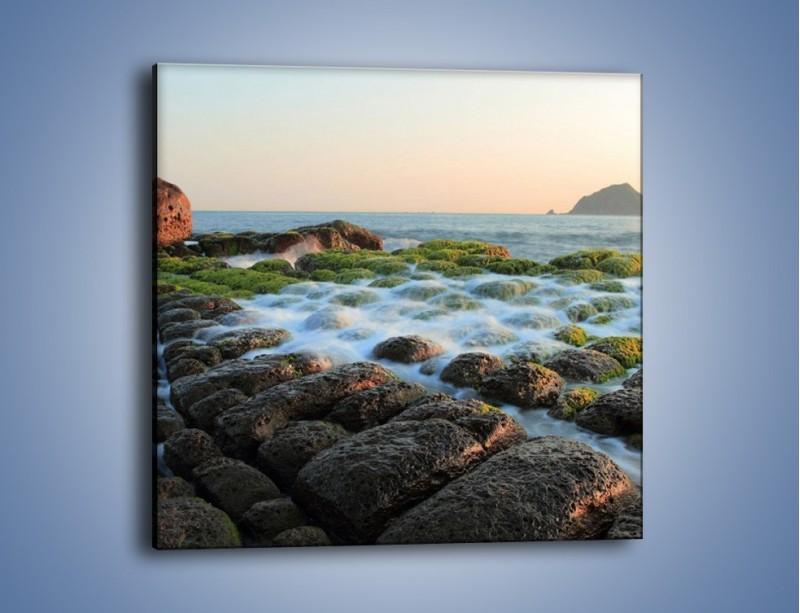 Obraz na płótnie – Ścisk wśród kamieni – jednoczęściowy kwadratowy KN1026