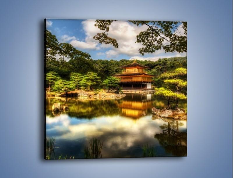 Obraz na płótnie – Widok z domu na wodę – jednoczęściowy kwadratowy KN1030