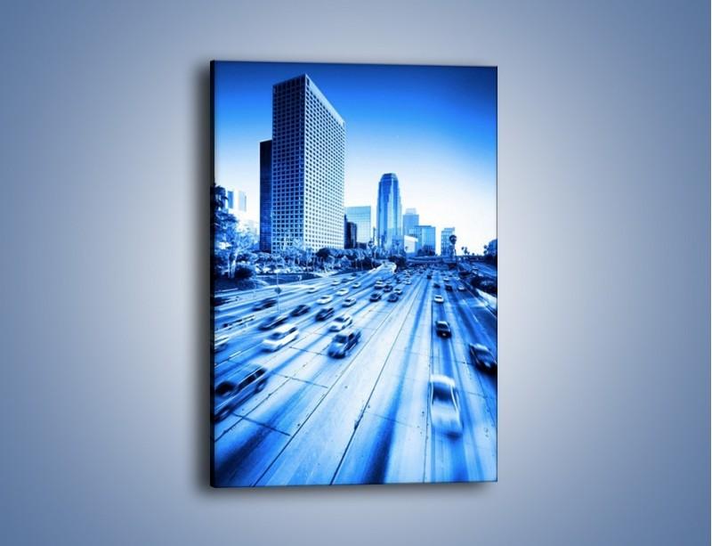 Obraz na płótnie – Zatłoczona autostrada w ruchu – jednoczęściowy prostokątny pionowy AM028
