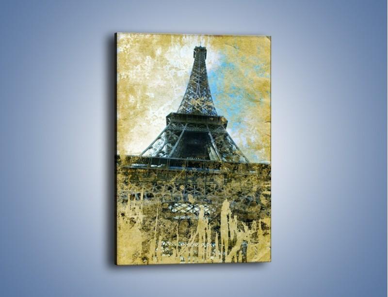 Obraz na płótnie – Wieża Eiffla w stylu vintage – jednoczęściowy prostokątny pionowy AM035