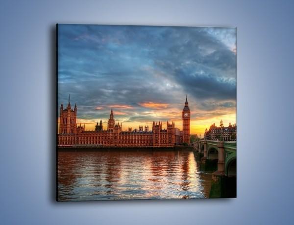 Obraz na płótnie – Pałac Westmnisterski i Big Ben – jednoczęściowy kwadratowy AM321