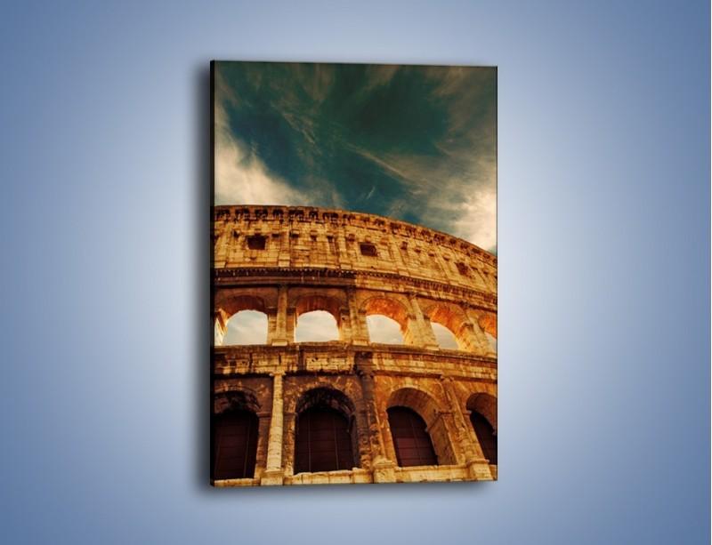 Obraz na płótnie – Koloseum w świetle słońca – jednoczęściowy prostokątny pionowy AM044
