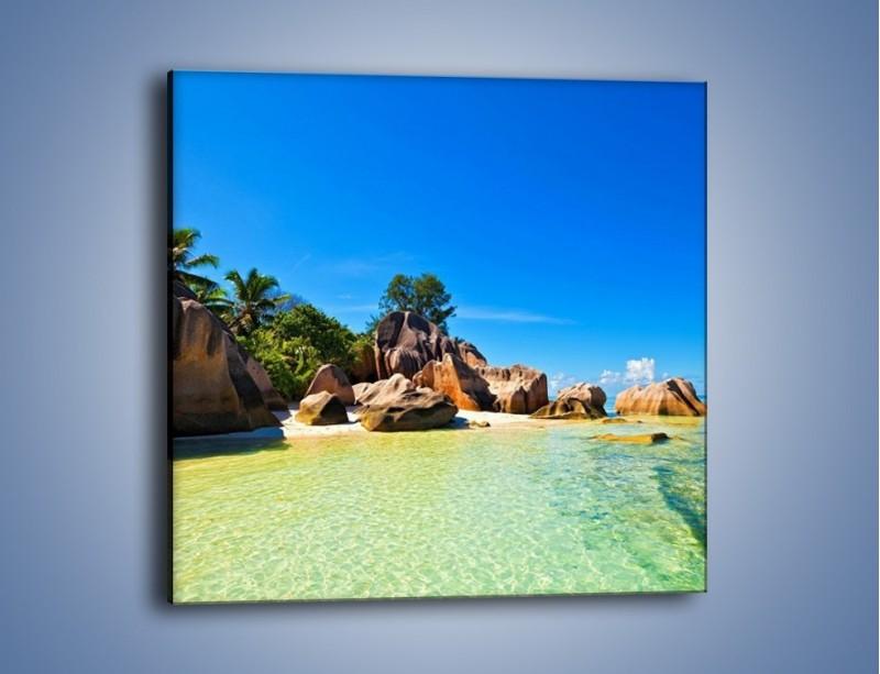 Obraz na płótnie – Bezludna wyspa i ja – jednoczęściowy kwadratowy KN1058
